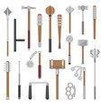 medieval weapons ancient protection warrior vector image vector image