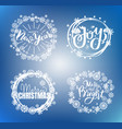 merry christmas happy new year bright joy text vector image vector image