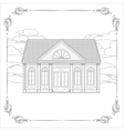 Old house with details and floral decorative frame vector image vector image