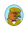 outdoorsman hawk head drawing vector image vector image