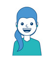 portrait woman face smiling happy expression image vector image