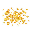 pound gold coins explosion isolated on white vector image vector image