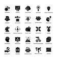 project management glyph icon set vector image vector image