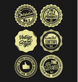 quality retro vintage badges collection black and vector image vector image