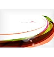 Rainbow orange red brown line design vector image