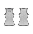 ribbed cotton-jersey tank technical fashion