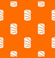 salmon pattern seamless vector image vector image