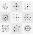 Scientific bauhaus technology circular grids vector image