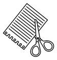scissors school with paper vector image