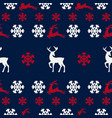 seamless pattern of winter background vector image vector image
