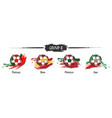set football or soccer national team group b vector image