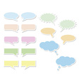 Set of bubbles for speech vector image vector image