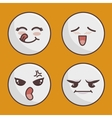 set of emoticons isolated icon design vector image vector image