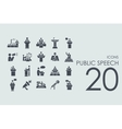 Set of public speech icons vector image