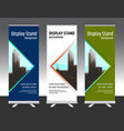 set of vertical abstract display banner stand vector image