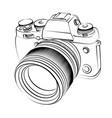 sketch slr camera vector image