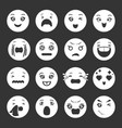 smiles icons set grey vector image vector image