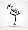 stylish flat design flamingo icon silhouette of vector image