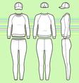 Sweatshirt cap and leggins set vector image vector image