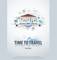 travel to greece time to travel banner with vector image vector image