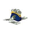 USA financial help Euro Zone vector image
