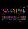 vintage carnival font vector image vector image