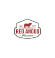 vintage red angus logo design inspirations vector image vector image