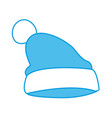 winter hat clothes vector image