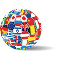 world flags ball vector image