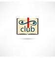 Club open book vector image
