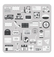 flat icons postal service and post office set vector image