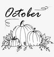 doodle oct pumpkin vector image
