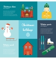 concept of christmas and winter holidays vector image