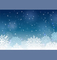 a winter dark blue vector image