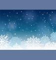 a winter dark blue vector image vector image