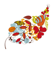 abstract cute floral autumn card vector image