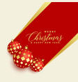beautiful christmas balls decoration background vector image vector image
