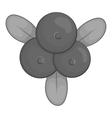 Berries icon black monochrome style