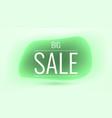 big sale liquid shape banner all in green vector image vector image