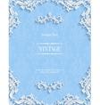 blue floral 3d background template