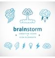 Brainstorm Abstract Creative Logo Template vector image vector image