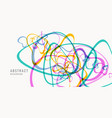 bright abstract background with of colored lines vector image