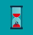 businessman in hourglass vector image