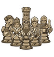 chess team white vector image vector image