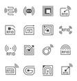 collection of simple radio frequency vector image vector image