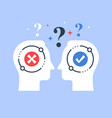 decision making opinion poll bias and mindset vector image vector image