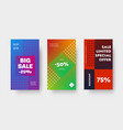 design set color gradient banners for mobile vector image vector image