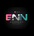enn e n n three letter logo icon design vector image vector image