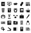 file icons set simple style vector image