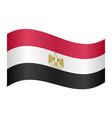 flag of egypt waving on white background vector image vector image